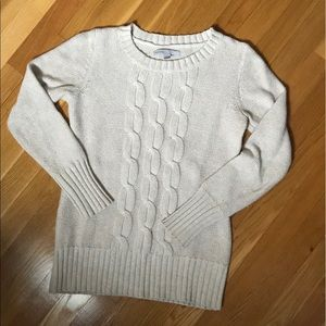 Sweaters - Cream Chunky Knit Sweater